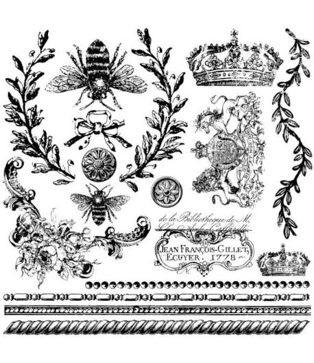 Timbro decorazione - APE REGINA