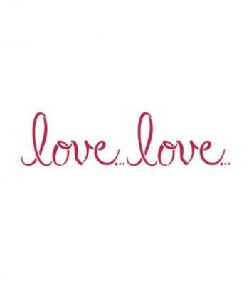 STENCIL B CM. 38 X 15 LOVE...LOVE...