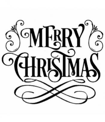 STENCIL SPESSO CM.18 X 18  MERRY CHRISTMAS
