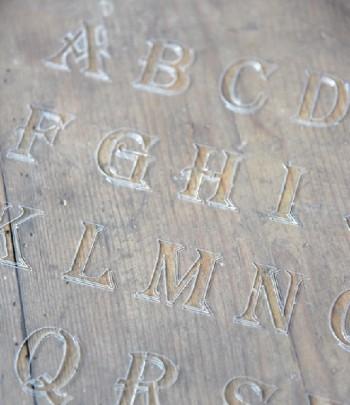 Stencil lettere stampatello